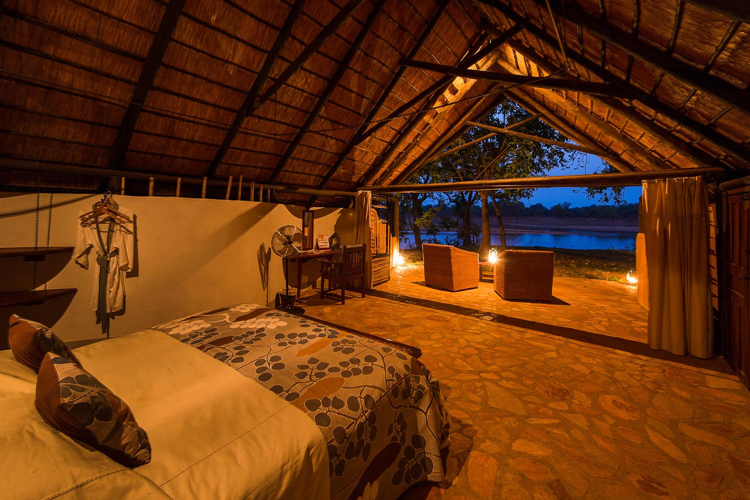womens-trip-karen-loftus-tours-safaris-malawian-style-malawi-adventures-experiences-holidays-specialist-tour-operator-nkwali-camp-south-luangwa-bedroom-view
