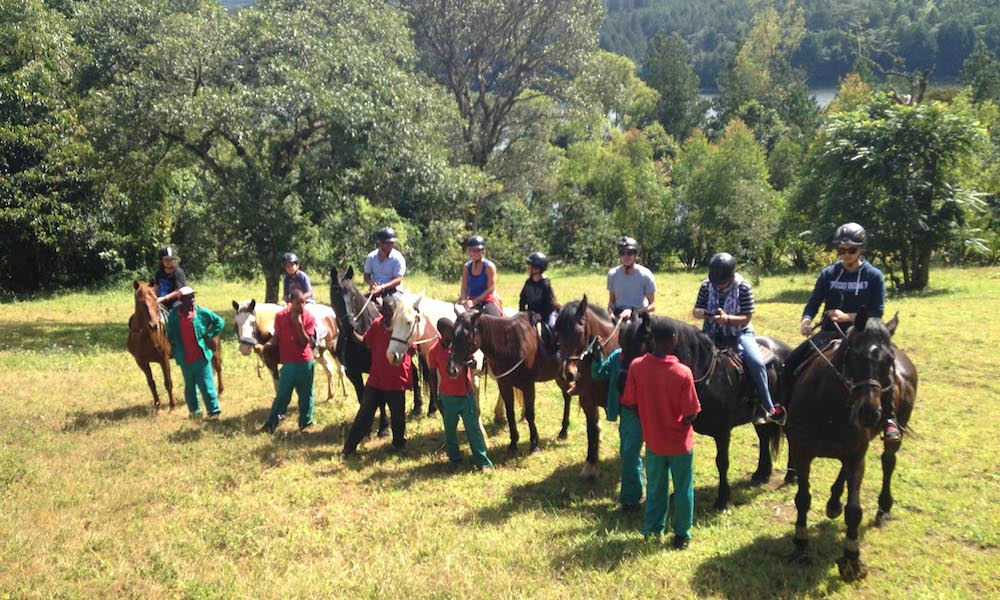horse riding on zomba plateau