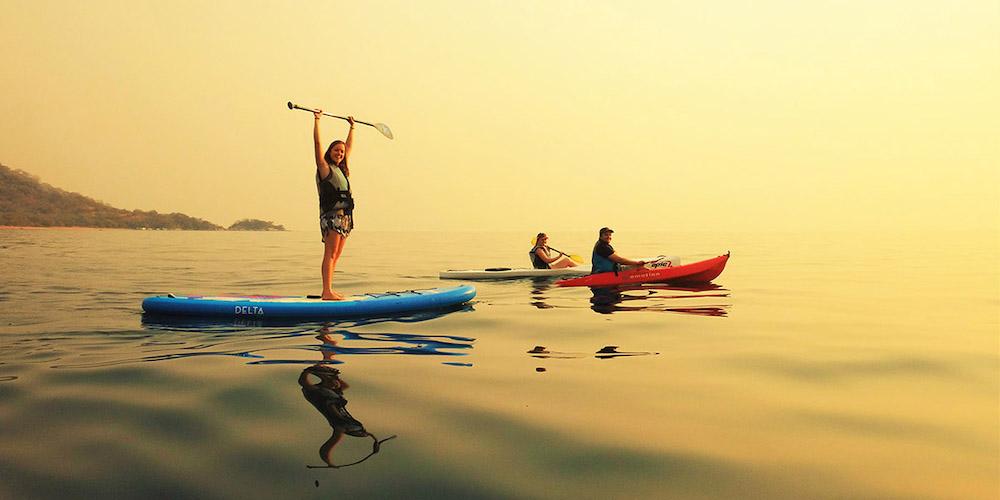 kayak and paddle on lake malawi