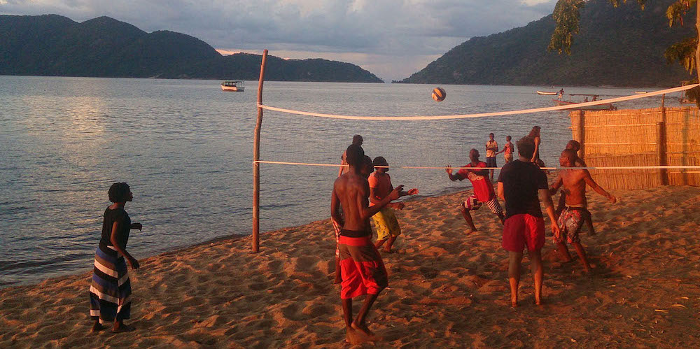 volleyball in cape maclear